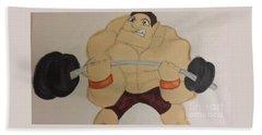 Muscular Man Beach Towel