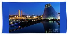 Museum Of Glass At Blue Hour Beach Towel