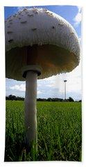 Mushroom 005 Beach Sheet by Chris Mercer