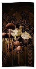 Beach Towel featuring the digital art Mushroom Dragon by Richard Ricci
