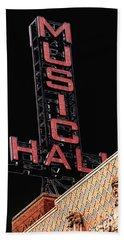 Music Hall Sign Beach Towel