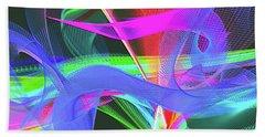 Beach Towel featuring the digital art Music Note by Visual Artist Frank Bonilla