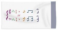 Beach Sheet featuring the digital art Music Notes 1 by David Bridburg