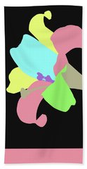 Beach Sheet featuring the digital art Music Notes 13 by David Bridburg