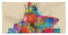 Beach Towel featuring the digital art Music Strikes Fire From The Heart by Nikki Marie Smith