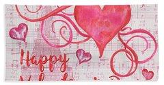 Musical Valentine Beach Sheet by Debbie DeWitt