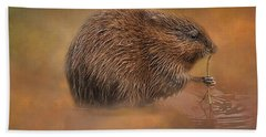 Muskrat Snack Beach Towel