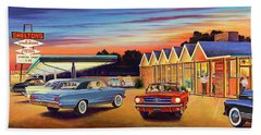 Mustang Sally - Shelton's Diner 2 Beach Towel