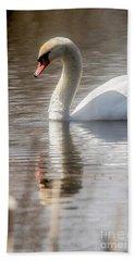 Beach Sheet featuring the photograph Mute Swan - 2 by David Bearden