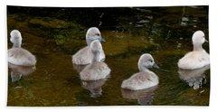 Mute Swan Babes Beach Towel