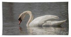 Mute Swan Beach Towel by David Bearden