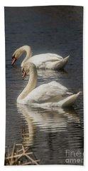 Beach Sheet featuring the photograph Mute Swans by David Bearden