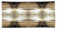 Beach Sheet featuring the digital art Muted Sunset Design by Ellen O'Reilly