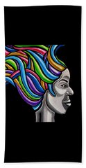 Abstract Female Face Artwork - My Attitude Beach Towel