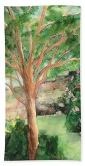 Beach Towel featuring the painting My Backyard by Vicki  Housel