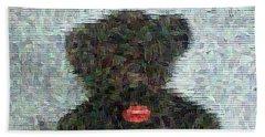 Beach Towel featuring the digital art My Bear by Lucia Sirna
