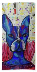 Beach Towel featuring the mixed media My Bestest Friend by Mimulux patricia No