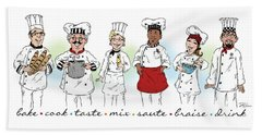 My Chefs In A Row-i Beach Sheet