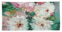 My Chrysanthemums Beach Sheet by Barbara Anna Knauf