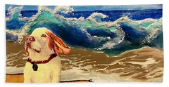 My Dog And The Sea #1 - Beagle Beach Towel