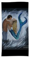 Beach Sheet featuring the painting My Dream Mermaid by Leslie Allen