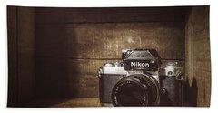 My First Nikon Camera Beach Towel