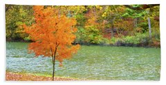 My First Real Color This Fall Tree Beach Towel by Sandi OReilly