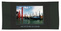 Beach Towel featuring the photograph My Future Is Clear by Donna Corless