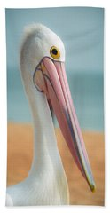 My Gentle And Majestic Pelican Friend Beach Towel