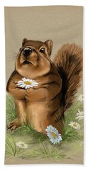 Beach Towel featuring the painting My Gift For You by Veronica Minozzi