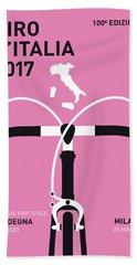 My Giro Ditalia Minimal Poster 2017 Beach Towel by Chungkong Art