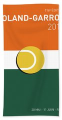 My Grand Slam 02 Rolandgarros 2017 Minimal Poster Beach Towel