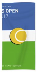 My Grand Slam 04 Us Open 2017 Minimal Poster Beach Towel