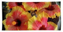 My Hibiscus Garden Beach Towel by Jenny Lee