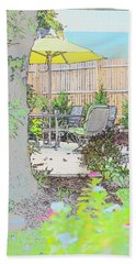 Beach Towel featuring the photograph My Patio by EDi by Darlene