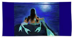 Beach Towel featuring the painting My Precious Bunch by Leslie Allen
