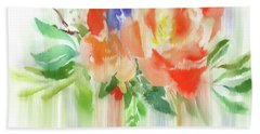 Beach Sheet featuring the painting My Roses Gently Weep by Colleen Taylor