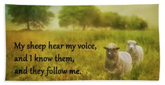 My Sheep Hear My Voice Beach Sheet