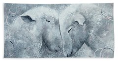 My Sheep Hear My Voice Beach Towel