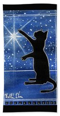 My Shinning Star - Christmas Cat Beach Towel