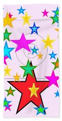 Beach Sheet featuring the painting My Stars by Denise Fulmer