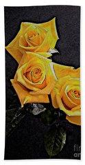 My Three Roses Beach Sheet by Rita Brown