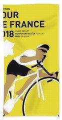 My Tour De France Minimal Poster 2018 Beach Towel