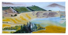 My Tuscan Valley View Beach Towel