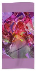 My Wild Iris Glows - Floral Abstract - Photography Beach Towel