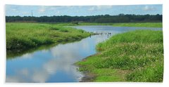 Myakka River Reflections Beach Sheet by Emmy Marie Vickers