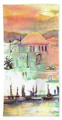 Sunset Over Mykonos Greece Beach Towel