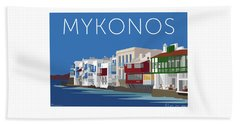Mykonos Little Venice - Blue Beach Towel