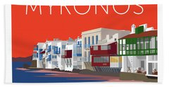 Mykonos Little Venice - Orange Beach Towel