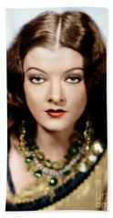 Beach Towel featuring the photograph Myrna Loy by Granger